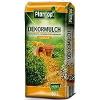 Rindenmulch Dekor 50 Liter Goldgelb Garten Deko-Mulch Dekormulch Plantop Gelb