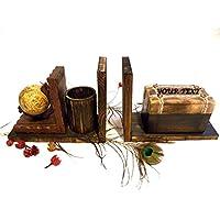 Fermalibri personalizzate, Fermalibri in legno, regali personalizzati, libri di supporto, organizzazione ufficio