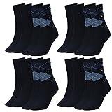 Tommy Hilfiger Damen Socken Check Casual Socken 8er Pack, Größe:35-38, Farbe:Tommy Blue (054)