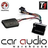 T1Audio T1-VX2– Adapter für Auto-Lenkradhebel-Schnittstellen,Vauxhall Antara, Astra, Corsa C/D, Meriva, Signum, Tigra, Vectra C, Zafira B, mit gratis Patchkabel