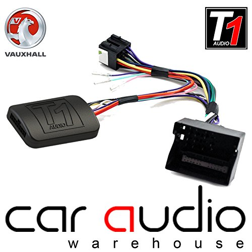 T1Audio t1-vx2–Vauxhall Antara, Astra, Corsa C/D, Meriva, Signum, Tigra, Vectra C, Zafira B Auto Lenkrad Stiel Schnittstelle Adapter mit frei Patch Blei