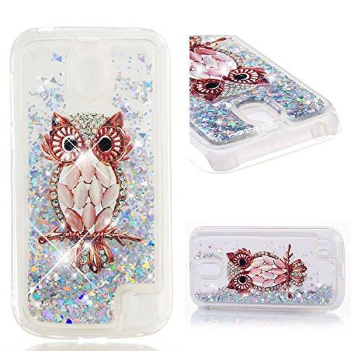 COZY HUT Custodia Nokia 1 Glitter Cover,Brillantini Trasparente Silicone Sabbie Mobili Bumper Case per Custodie Nokia 1 - Gufo di Cristallo del Fumetto