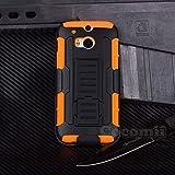 Cocomii Robot Armor HTC One M8/M8s Hülle [Strapazierfähig] Erstklassig Gürtelclip Ständer Stoßfest Gehäuse [Militärisch Verteidiger] Ganzkörper Case Schutzhülle for HTC One M8 (R.Orange)