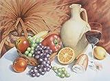 Reeves Aquarellstifte Stillleben Malen nach Zahlen, Malpappe, Mehrfarbig, 39.6x33x0.8 cm