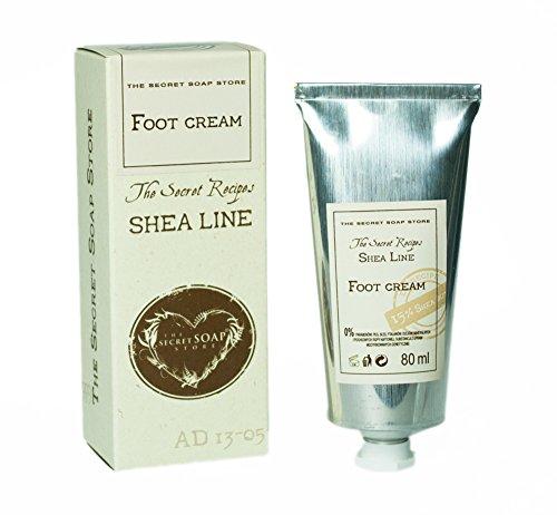 Fußcreme mit Shea-Butter (15%) - (80 ml) - einzigartige Hilfe für Ihre Füße. Perfekte Schutz! Sehr effizient!