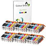 36 (6 Sets) ColourDirect Cartouches d'encre compatibles Pour Canon CLI-551XL/ PGI-550XL - Pixma iP8750, MG6350, MG7150, MG7550, MX925 imprimantes