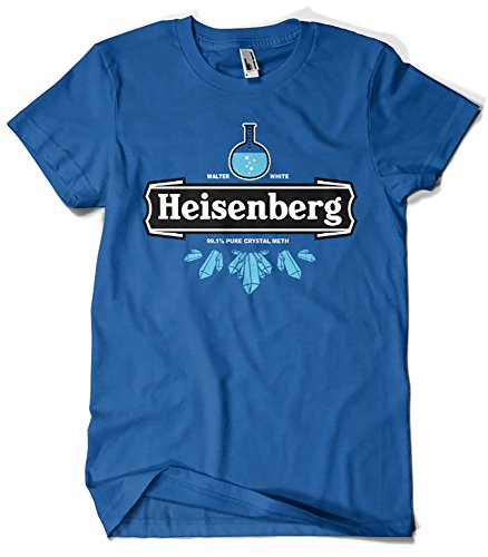 121-Camiseta Breaking Bad Heisenberg Crystal Meth (L, Azul Royal)