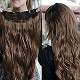 Die besten TOOGOO (R) Haarverlängerungen - TOOGOO(R) Dunkelbraune herrlich lange lockige Clip-on Haarverlaengerung Peruecken Bewertungen