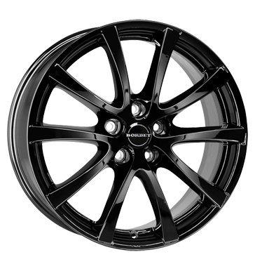 4-cerchi-7-X-16-per-Ford-Kuga-C-MAX-FOCUS-Cabrio-Glossy-Black-con-ABE