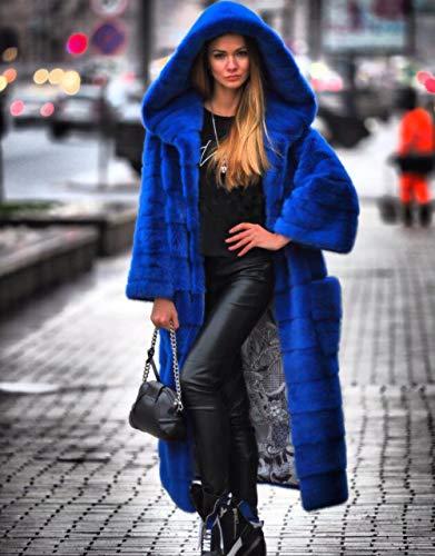 JKYIUBG Daunenjacke Pelzmantel Frauen Winter Natürliche Pelzmäntel Und Jacken Weibliche Lange Warme Vintage Frauen Kleidung 2019 Plu