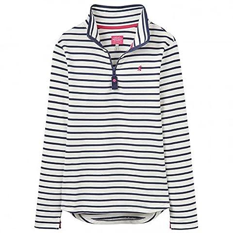 Joules Fairdale Womens Zip Neck Sweatshirt - Creme Stripe: 10