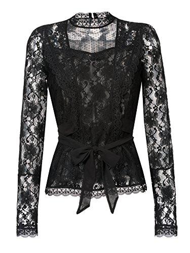 Vive Maria Dandy In Love Bluse schwarz, Größe:XS - Victorian Gothic Black Lace