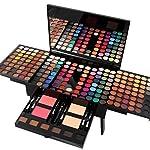 Pure Vie® 180 Colores Sombra De Ojos Corrector Rubor y Brillo de Labios Paleta de Maquillaje Cosmética - Perfecto para Sso Profesional y Diario