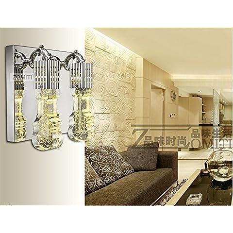 HOME-2 columna de luz cristal equipo iluminación de la pared balcón del dormitorio sala de la lámpara de cristal de la lámpara de la lámpara de pared llevado de noche creativa de estar