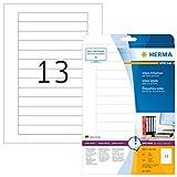 Herma SuperPrint 5069 Etichette per dorso videocassette, 147,3 x 20,0 mm, colore: Bianco