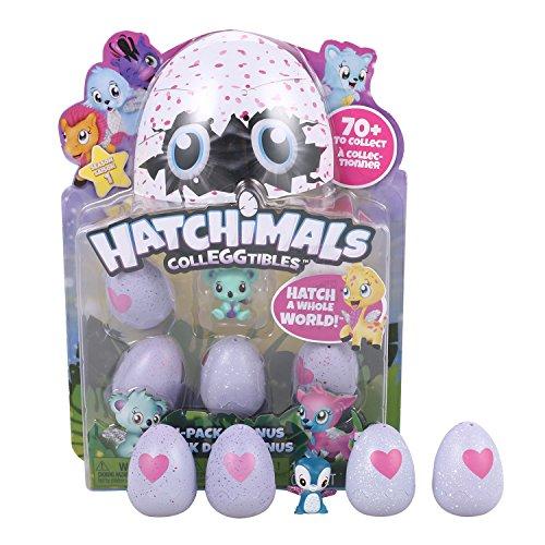 Lonlier Kinder Spieleier Set Egg Spielzeug Schlüpf Ei CollegGtibles Überraschung Serie, 4 Pack