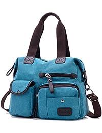 Women's handbag,Gindoly Multi Pocket Large Shoulder Bag Tote Fashion Handbag Hobo Bags for Travel School Shopping and Work