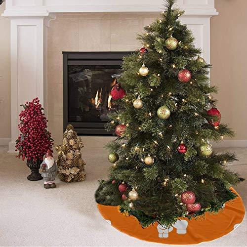 ZHANGhome Weihnachtsbaum Rock süß farbige kreative Boxhandschuhe drucken Santa Baum Rock Polyester neutral Weihnachtsbaum Rock Teppich für Party Urlaub Dekorationen Xmas Ornamente