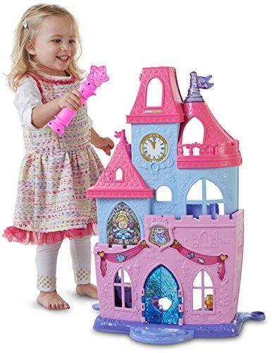 Fisher-Price drl52Little People Disney Princess Magische Zauberstab Palace Aktivität (Prinzessin Leuchten Zauberstab)