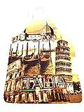 RICEVI 1 Grembiule 80x60cm Citta Italiane Pisa Roma Venezia da Cucina con Laccetti,Stampa Divertente Addio al Nubilato Feste cene Ristorante trattoria + 1 Portachiavi Robb