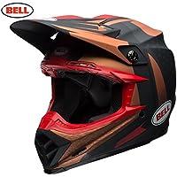 Bell Cascos Moto-9Flex tornillo de banco, negro/cobre, tamaño M