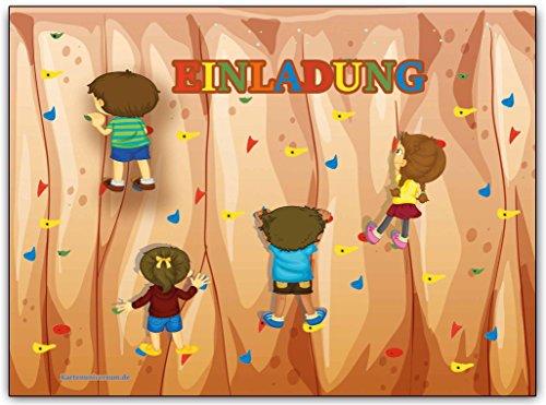 Einladungskarten Kindergeburtstag Klettern Einladung Geburtstag Party Ausflug Feier Jungen Mädchen