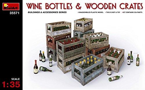 Unbekannt 'Mini Tipo 35571-Accesorios de construcción Wine Bottles y Wooden Crates
