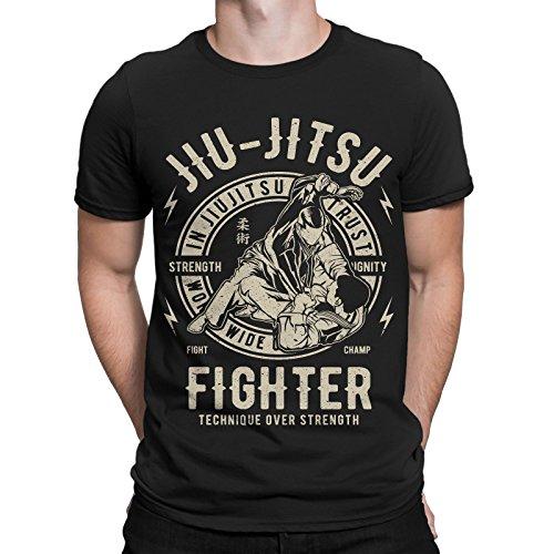 Jiu Jitsu Fighter T-Shirt MMA BJJ Brasilien Muay Thai Capoeira Boxen Wushu Sport