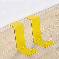 SHUFAGN,Lindos y Coloridos S-Ganchos para Almacenamiento de Pared de Cocina 2PCS(Color:Amarillo)