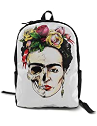GreatFBackashion Frida-Kahlo Mochila Escolar para niños y niñas, Mochila de Viaje al Aire