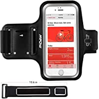 "iPhone Running Armband, Mpow Running Armband for iPhone X/ 8/ 7/ 6S/ 6 (Phones up to 5.1""),  with Extension Strap, Card Pocket, Key Holder & Earphone Holder, Adjustable Size & Safety Design for Exercise, Running, Cycling, Hiking"