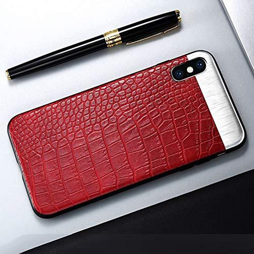 WZYSJK Mode Handytasche fällen für iPhone 7 8 6 6 s Plus case Metall nähte rückseitige Abdeckung für iPhone x ix pu Leder Coque Shell -