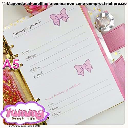 A5 - Personal - REFILL handmade per agende planner Fiocchi 1 FOGLIO Informazioni personali