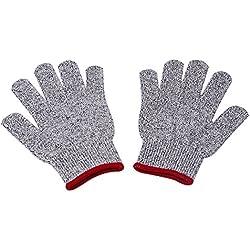 Kicode Küchengarten 1 Paar Anti-Cutting Schnittfest Lebensmittelqualität Butcher Handschuhe Fingerschutz