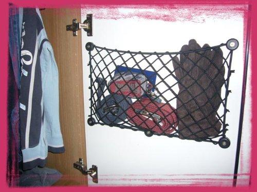 Rete Ad-Hoc salvaspazio portaoggetti - fermaoggetti per interno ante armadi