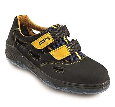 Otter Sicherheitssandale 98405-559 ESD S1, Farbe: schwarz/gelb