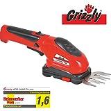 Grizzly Akku Grasschere 3,6V 1,3Ah Li-Ion Buchsschere Rasenschere Strauchschere