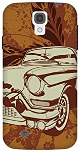 The Racoon Lean vintage ride hard plastic printed back case / cover for Samsung Galaxy S4