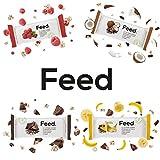 Feed. - Barre Banane Chocolat - Repas complet, pratique à emporter partout - 100% Vegan - Sans Gluten - Sans lactose - Sans OGM - 100g