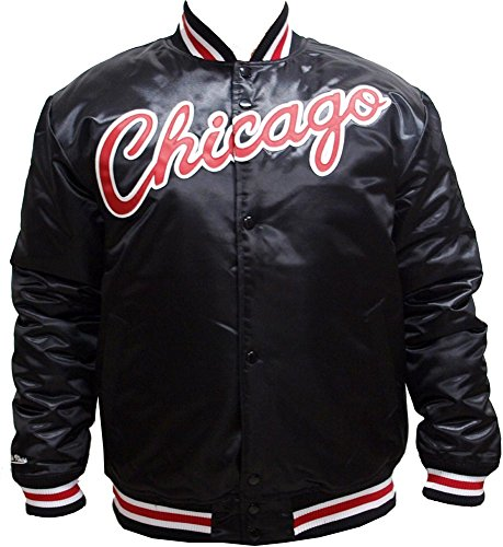 Mitchell & Ness Herren Jacken/College Jacke HWC Team Chicago Bulls Schwarz L