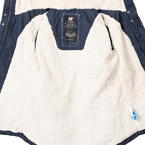 Ragwear Damen Winterparka Winterjacke Monade Navy018 Gr. S - 4