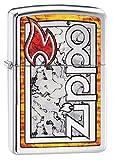 Zippo Feuerzeug Logo IN FUZION Encendedor, Cromado, Plata, Talla única