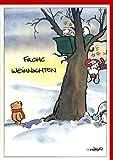 Witzige Weihnachtskarte Santas Betriebsunfall