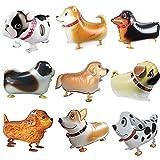 BESTZY 9PCS Palloncini per Cani Piedi Palloncini Foil Animali Elio Animale Domestico Palloncini di stagnola Foglio di Alluminio Palloncino per Matrimonio Compleanno Festa Decor Bambini Regalo