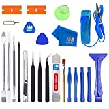 MMOBIEL Kit de Herramientas Premium para reparación y Apertura con 23 Piezas en 1. Incl. Pulsera antiestática para reparación de teléfonos Inteligentes, Dispositivos electrónicos, tabletas y Otros