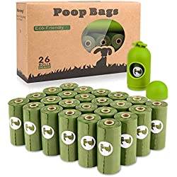yingdelai Bolsas para Excrementos de Perro 26 Rollos, Total 390 Bolsas Poop Bag para Perro Biodegradable Grandes Animales