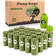 Yingdelai Dog Poo Bags - 26 Rolls 390 Bags with 1 Dispenser-Biodegradable,Eco Friendly Poop Bags Dog