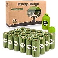 Yingdelai Bolsas de Caca de Pogi - Bolsas para Perros - 26 Rollos (390 Bolsas) + 1 dispensadores - Bolso de Basura hermético, perfumado y Biodegradable