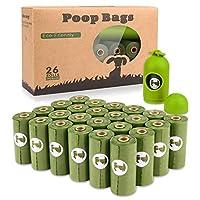 Las bolsas de desechos para perros biodegradables son gruesas y resistentes, a prueba de fugas. Este paquete de recarga incluye 26 rollos de 15.Te encantarán las bolsas de residuos biodegradables para perros:Fácil de transportar, una bolsa de caca...