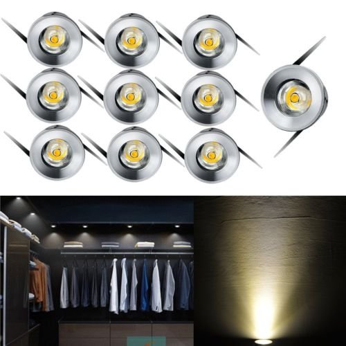 10 unidades 3 W LED Downlight empotrado Mini Kit Armario Lamps 3000...